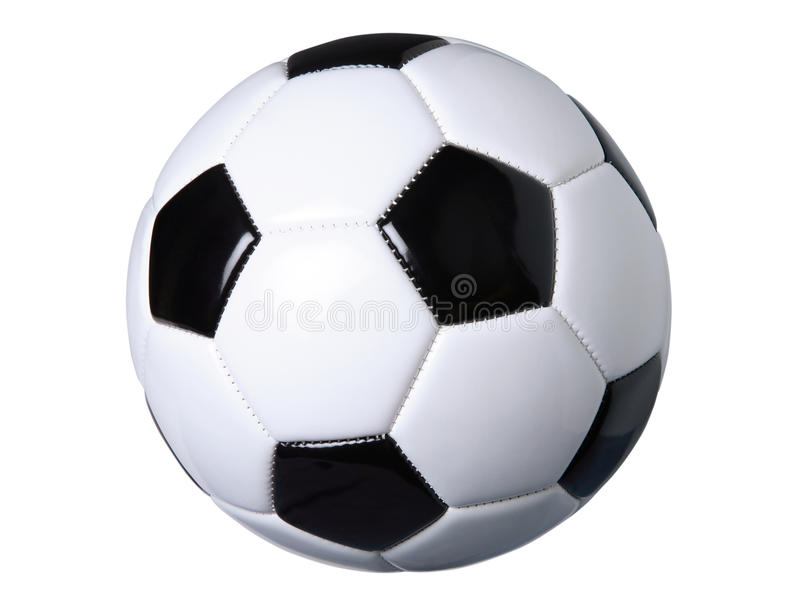 Soccer ball isolated on white with clipping path royalty free stock photography