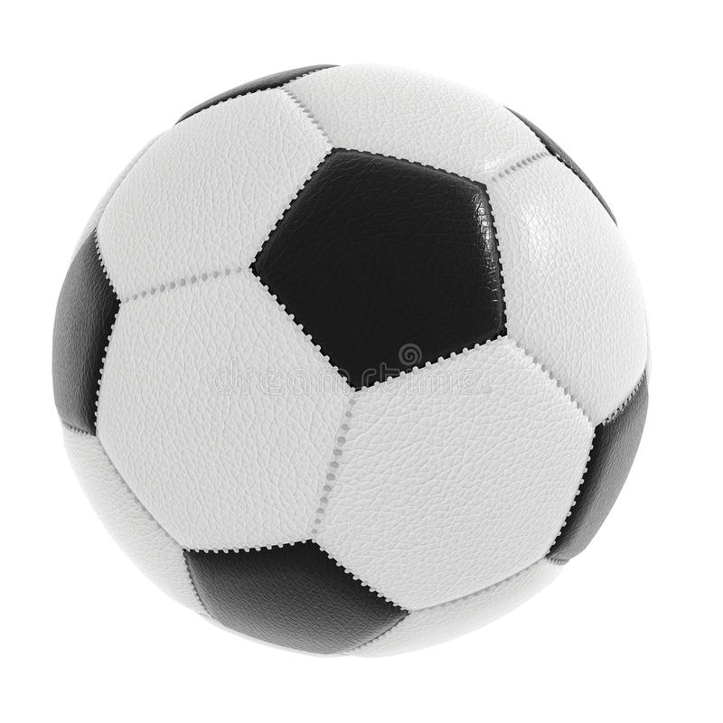 Soccer ball isolated on white with clipping path included royalty free stock photos