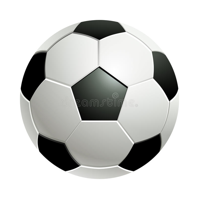 Soccer ball isolated on white royalty free stock photo