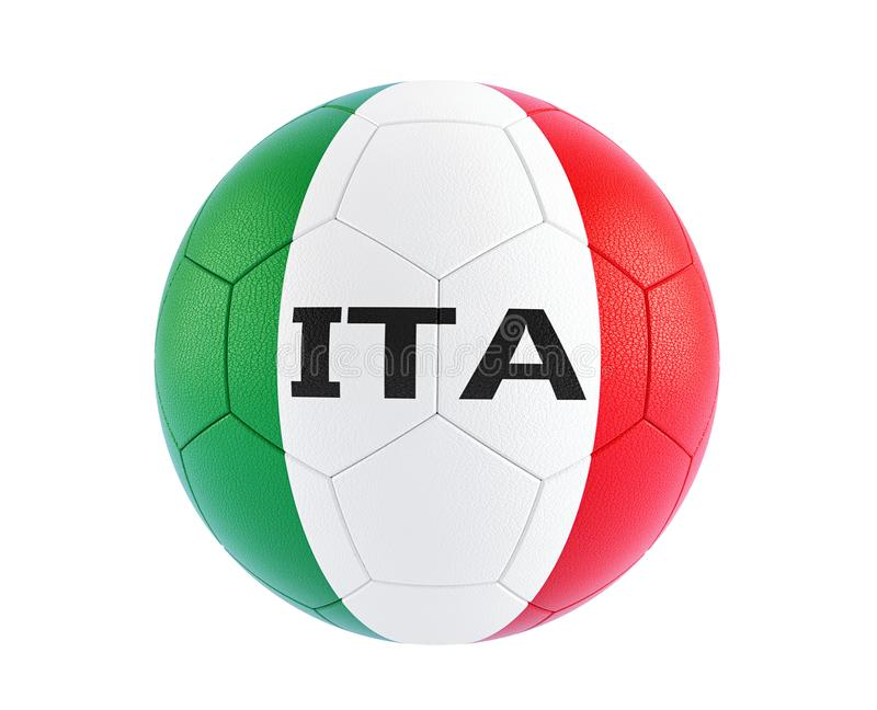 Soccer ball in italys national colors royalty free illustration