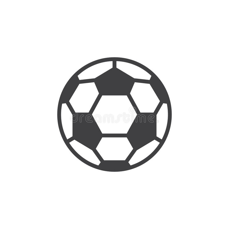 Soccer ball line icon, filled outline vector sign, linear style pictogram isolated on white. Symbol, logo illustration. Editable stroke. Pixel perfect stock illustration