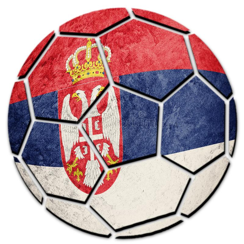 Soccer ball national Serbian flag. Serbia football ball. Football stock photos