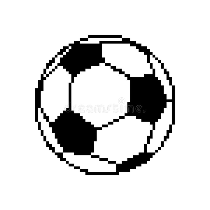 Soccer Ball Pixel Art Football Pixelated Isolated On White