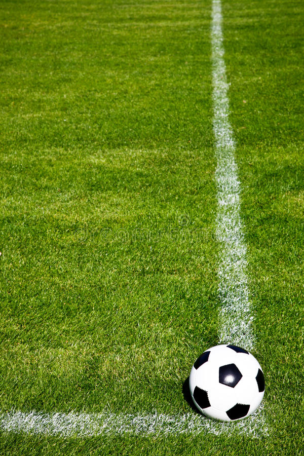 Download Soccer Ball Ready To Shoot stock photo. Image of angle - 10756716