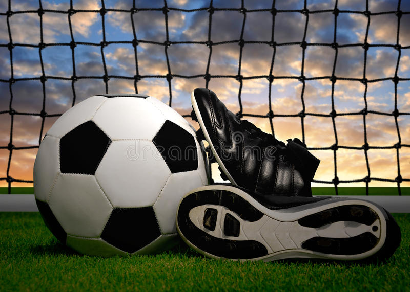 Download Soccer Ball And Shoes Stock Image - Image: 30116731