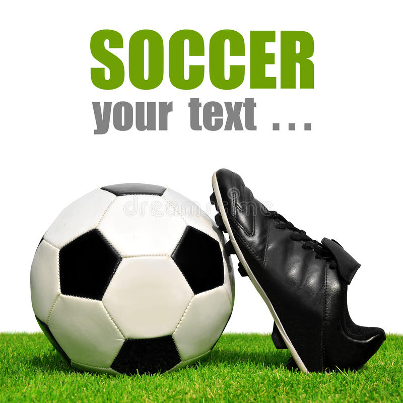 Download Soccer ball and shoes stock photo. Image of entertainment - 39239730