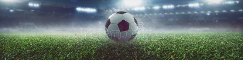 Soccer ball in a stadium. Soccer ball stadium goal play winner royalty free illustration