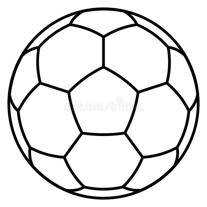 Soccer ball symbol royalty free illustration