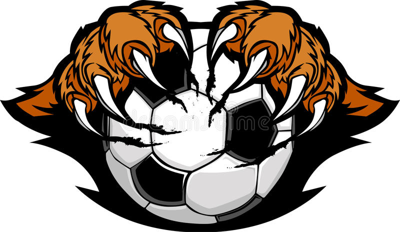 Soccer Ball With Tiger Claws Image vector illustration