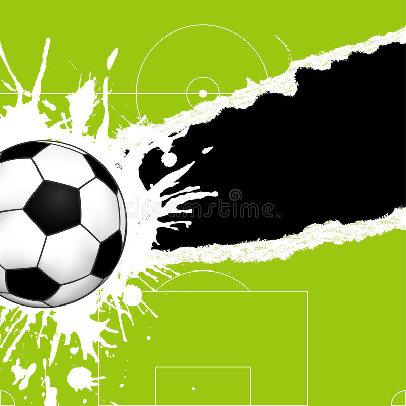 Download Soccer ball on torn paper stock vector. Illustration of cutout - 14477246