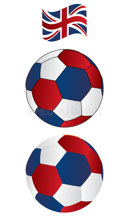Download Soccer Ball Of UK With Flying Flag Stock Vector - Illustration of colour, ethnic: 11103506