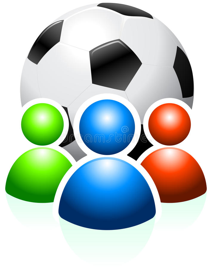 Soccer Ball with User Group royalty free illustration
