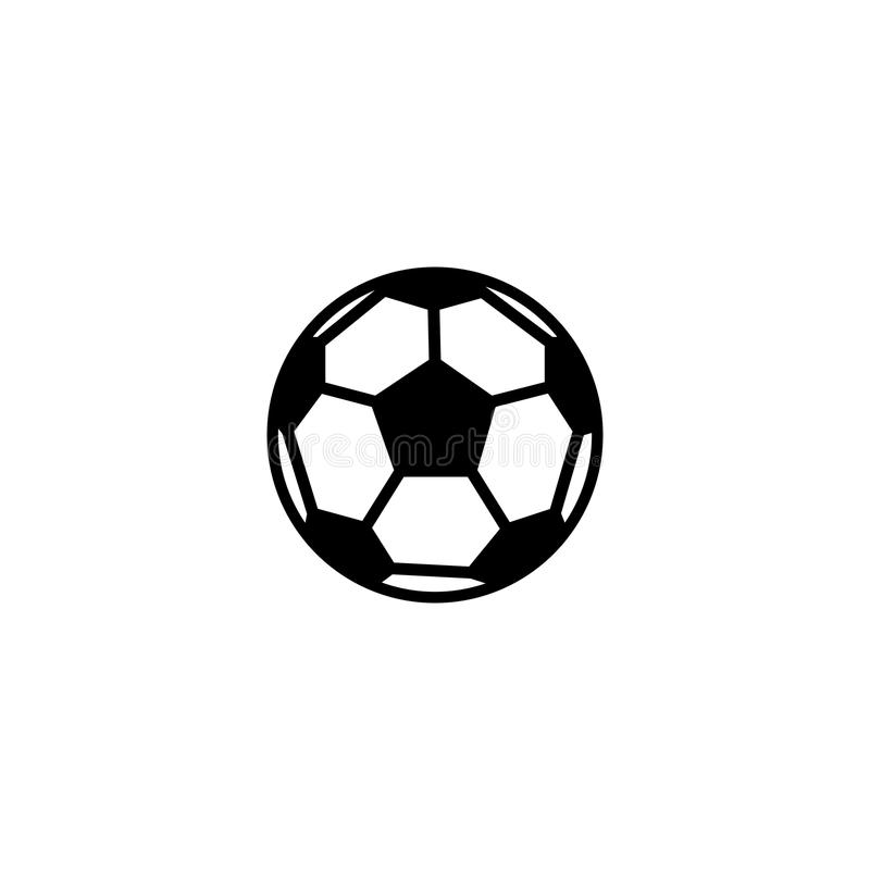Soccer ball vector icon. On white background royalty free illustration