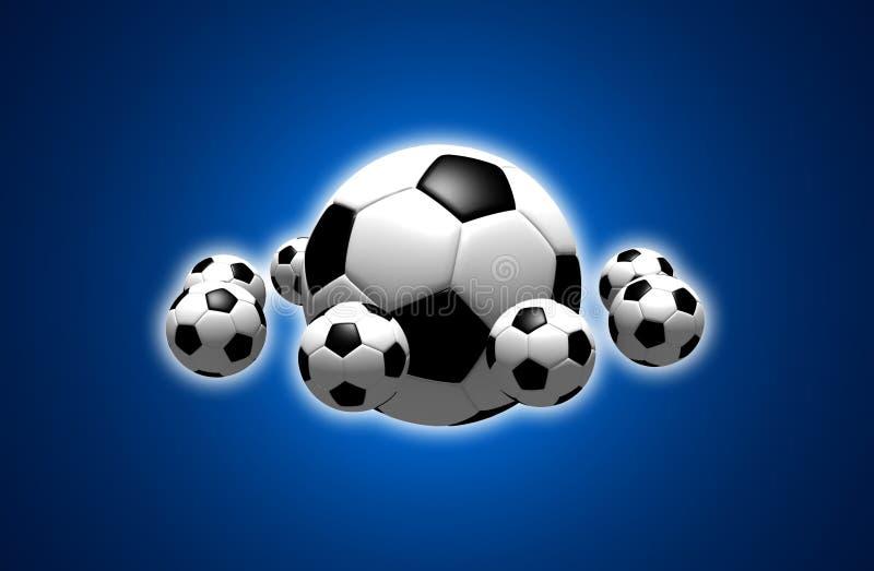 Soccer balls stock images