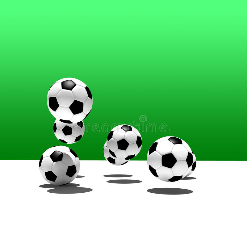Soccer balls royalty free stock images