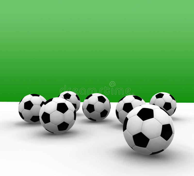Download Soccer balls stock illustration. Illustration of green - 3193047