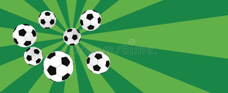 Soccer balls royalty free illustration