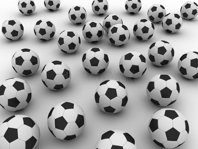 Soccer balls stock illustration