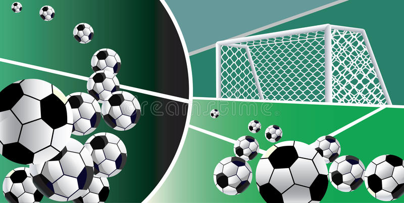 Soccer balls abstract background. stock illustration