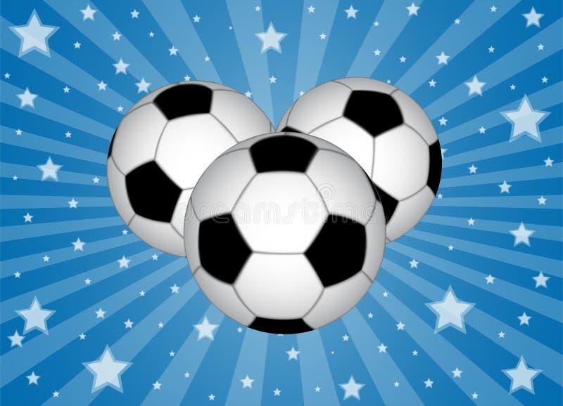 Soccer balls with stars vector illustration