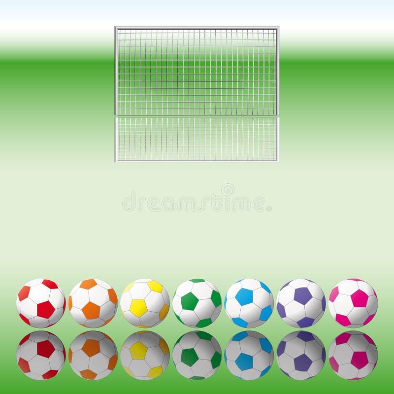 Download Soccer Balls To Soccer Net. Stock Vector - Illustration: 14591769