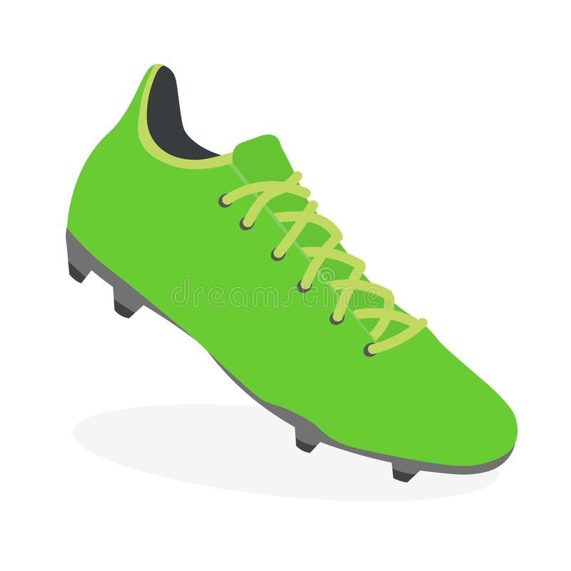 Soccer boot, football leather shoe, sport footwear. Icon, athletic sneaker. Vector vector illustration