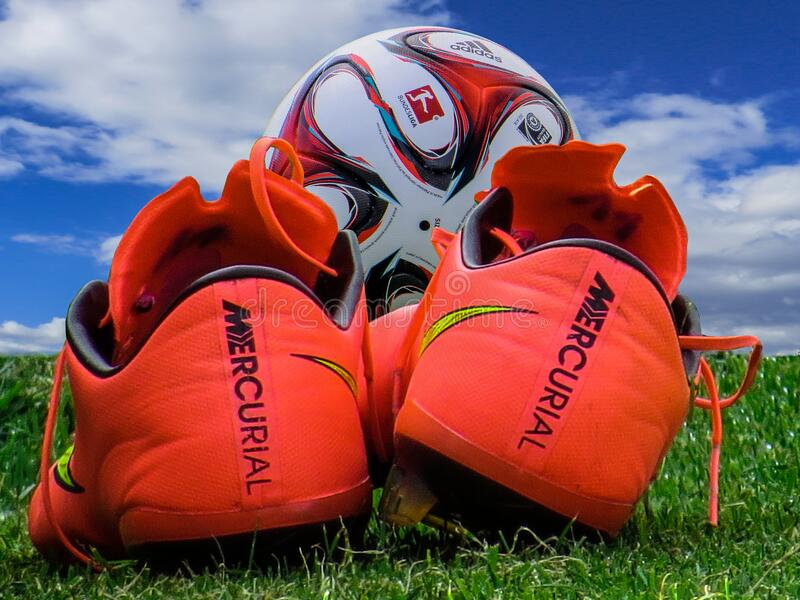 Soccer Boots And Ball Free Public Domain Cc0 Image
