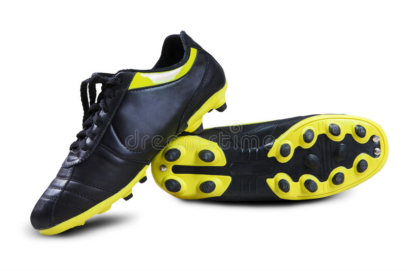 Soccer boots stock image