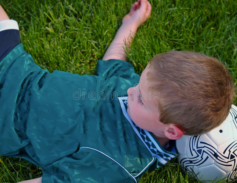 Soccer boy stock image