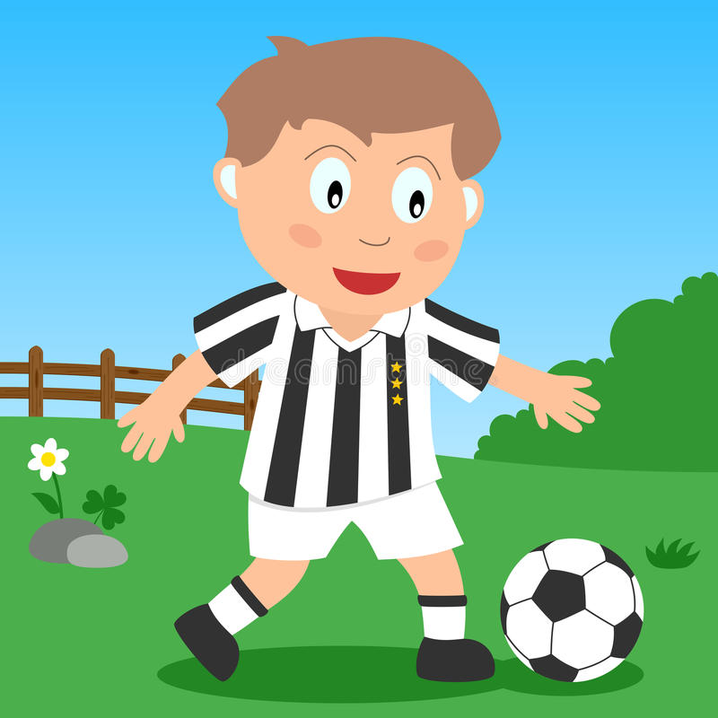 Soccer Boy in the Park. Kids and sport series: a boy playing soccer in a park. Eps file available vector illustration