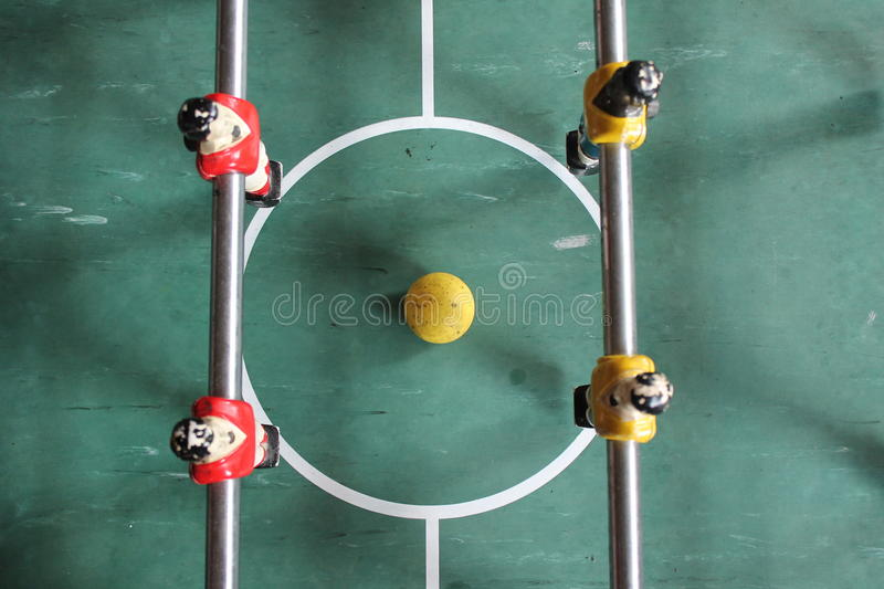 Foosball Soccer Brazil Tabletop football stock, photo, photograph, image, picture. Foosball Soccer Brazil Tabletop football Soccer Brazil shirts Tabletop stock photography