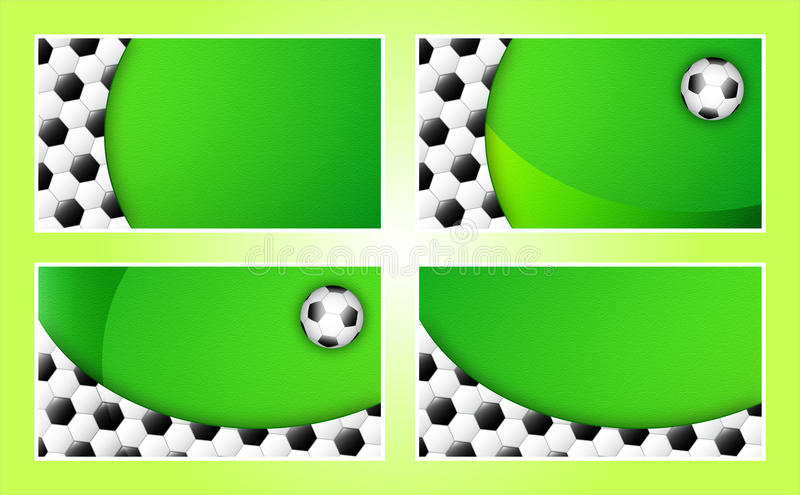 Soccer business card background template stock illustration