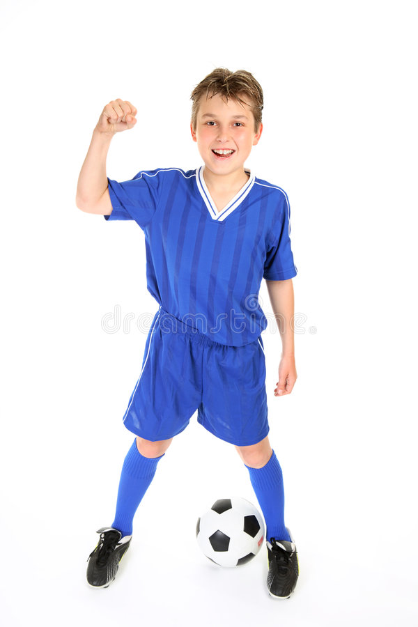 Soccer champ stock photography
