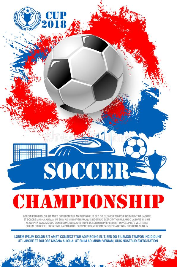 Download Vector Poster For Soccer Football Championship Stock