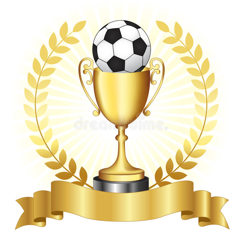 Stock Images Soccer Ch ionship Gold Trophy C ionship Golden Banner Laurel Glowing Background Image30810564 on award ceremony background