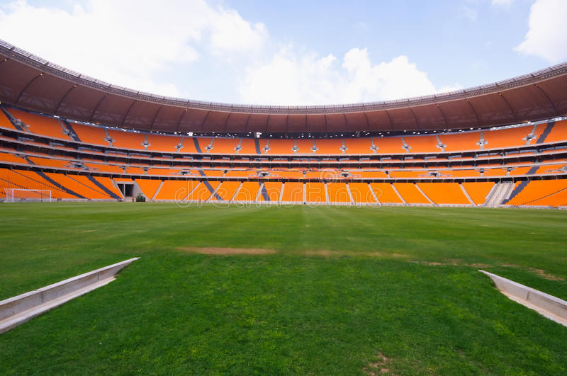 Soccer City,johannesburg. South africa will host the 2010 world cup of soccer. Jewel of the crown is the soccer city in soweto-johannesburg, and the stadium royalty free stock photography