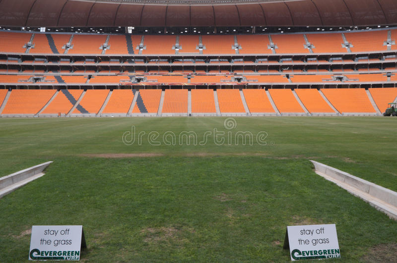 Soccer City,johannesburg. South africa will host the 2010 world cup of soccer. Jewel of the crown is the soccer city in soweto-johannesburg, and the stadium stock image