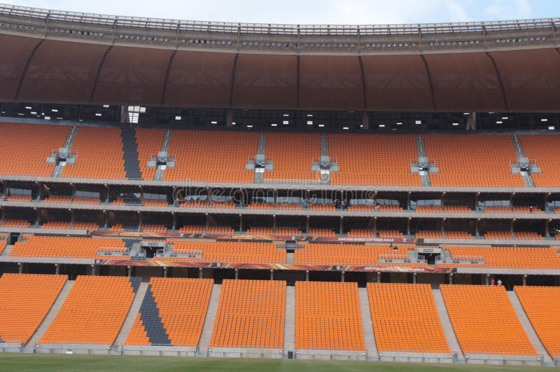 Soccer City,johannesburg. JOHANNESBURG South Africa. 28 MARCH: soccer city the stadium that will host the first and final match of world cup 2010 is just stock image