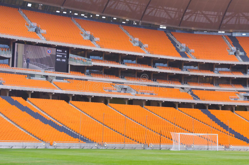 Soccer City,johannesburg. South africa will host the 2010 world cup of soccer. Jewel of the crown is the soccer city in soweto-johannesburg, and the stadium royalty free stock images