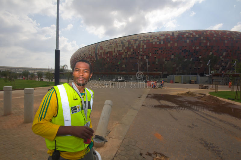 Soccer City,johannesburg. South africa will host the 2010 world cup of soccer. Jewel of the crown is the soccer city in soweto-johannesburg, and the stadoum royalty free stock image