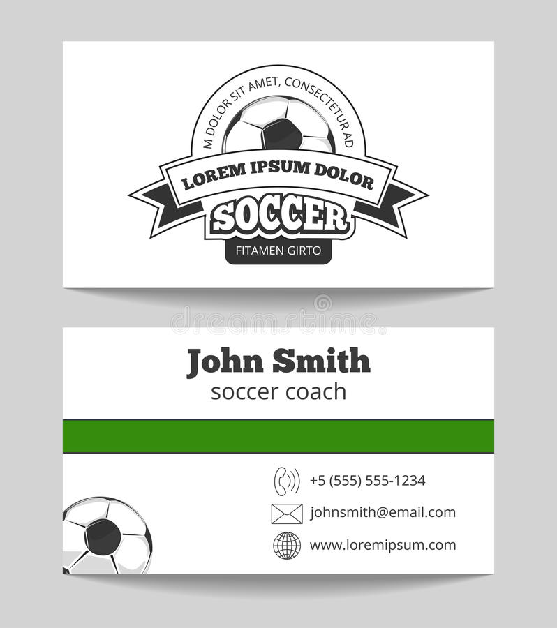 Soccer club business card stock vector. Illustration of club - 76595680