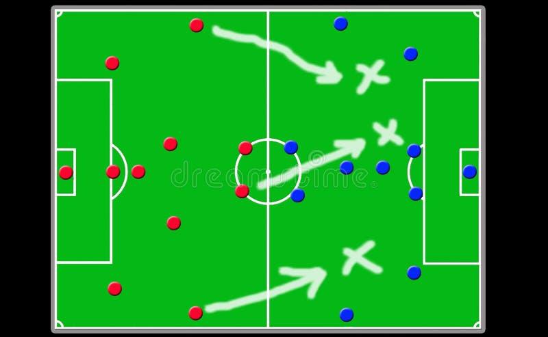 Soccer coach board stock image