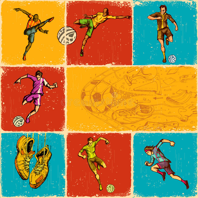 Soccer Collage Stock Photography