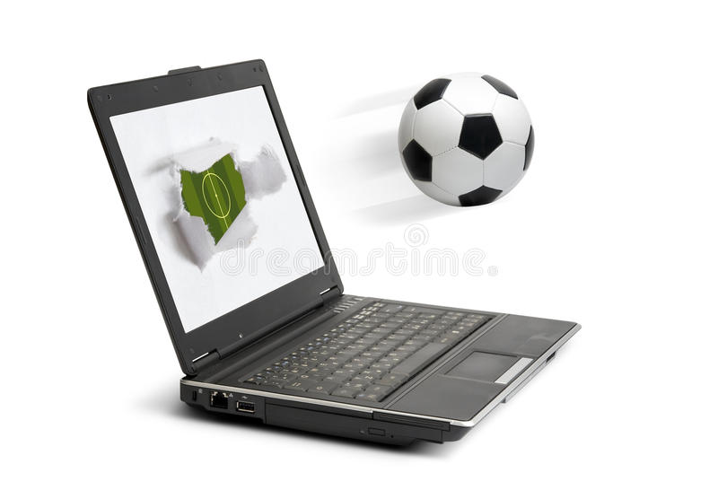 Download Soccer in computer stock image. Image of single, notebook - 12871189