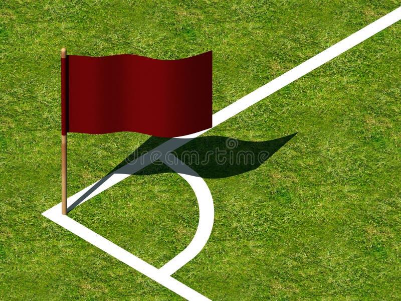 Soccer Corner Marking and Flag. royalty free illustration