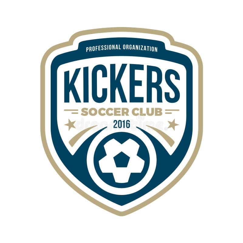 Soccer crest royalty free illustration