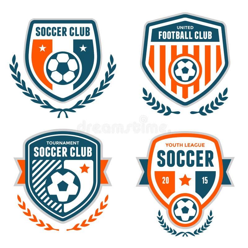 Soccer crests. Set of soccer football crests and emblem designs
