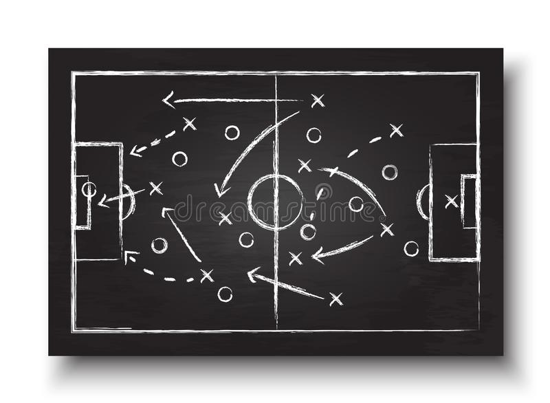 Soccer cup formation and tactic . Blackboard with football game strategy . Vector for international world championship tournament. 2018 concept stock illustration