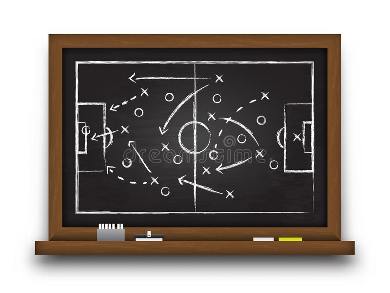 Soccer cup formation and tactic . Chalkboard with football game strategy . Vector for international world championship tournament. 2018 concept royalty free illustration