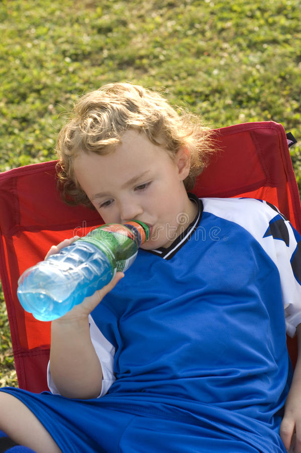 Soccer Drink royalty free stock image